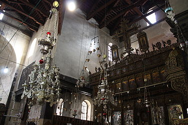 Church of the Nativity iconostasis 2010 2.jpg
