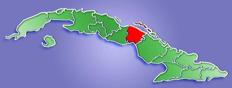 Ciego de Avila Province, map by Wikimedia Commons