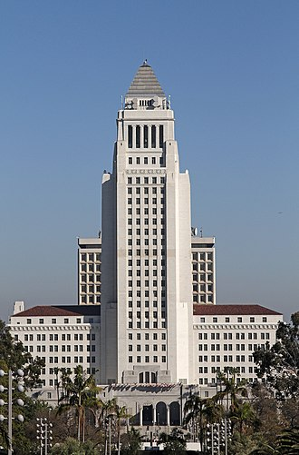 Los Angeles City Hall - The City Hall from Hill Street