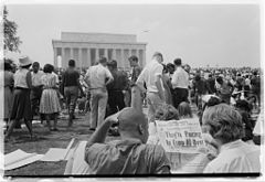 Civil rights march on Washington Lincoln Memorial.jpg