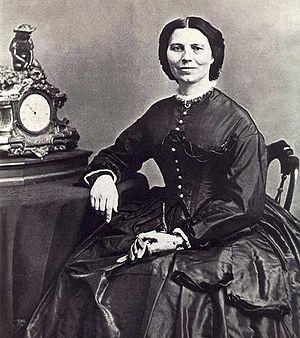 Clara Barton - Clara Barton circa 1866.