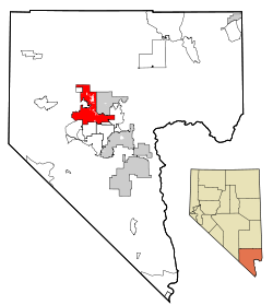 Clark County Nevada Incorporated Areas Las Vegas highlighted.svg