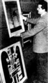 Claude Bonin-Pissarro at the National Gallery in Adelaide, 1953.PNG