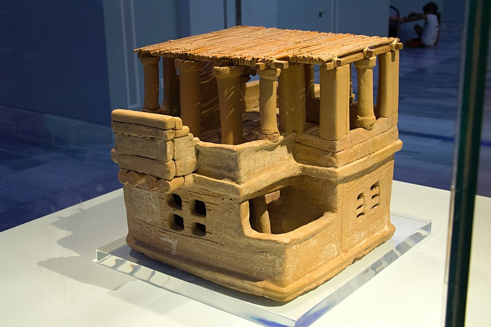 Clay house model from Archanes, 1700 BC, AMH, 19410, 145004