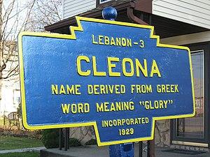 Keystone Markers - Image: Cleona, PA Keystone Marker in 2009