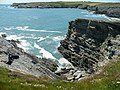 Cliffs near Porth Dafarch - geograph.org.uk - 858279.jpg