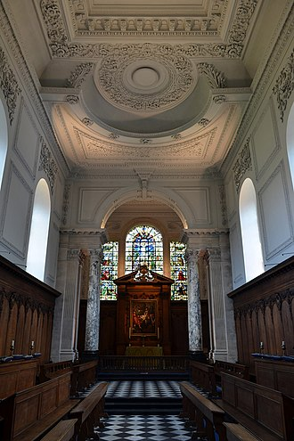 Pembroke College, Cambridge - Pembroke College chapel interior in September 2014