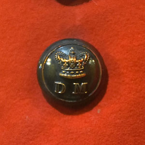 Militia and Volunteers of County Durham - Officer's coatee button of the Durham Militia c. 1850s from the Durham Light Infantry museum
