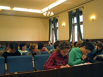 Faculty of Law and Administration of the Jagiellonian University - Collegium Novum - lecture