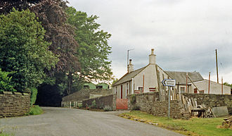 Colliston railway station - Site of former Colliston railway station, taken in 1988