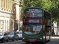 Colmore Row - Green hybrid bus - 23 to Woodgate - 5511 (14561215839).jpg