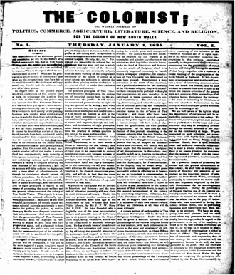 The Colonist - The Colonist, 1 January 1835