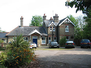 Coltishall railway station - The original station buildings are now a private house.