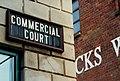 Commercial Court sign, Belfast - geograph.org.uk - 1618103.jpg