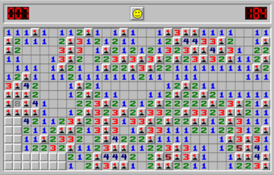 Picture of a game: Minesweeper