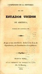 Vicente Pazos Kanki: Compendio de la historia de los Estados Unidos de América