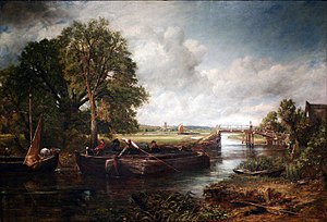 View on the Stour near Dedham, 1822, oil on canvas, Huntington Library, Los Angeles County