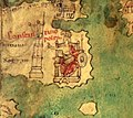 Constantinople on medieval copy of Tabula Peutingeriana 01.jpg