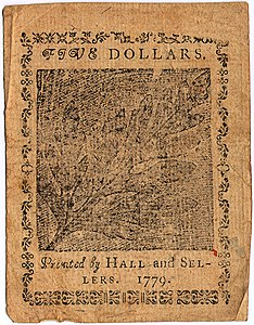Continental Currency $5 banknote reverse (January 14, 1779).jpg