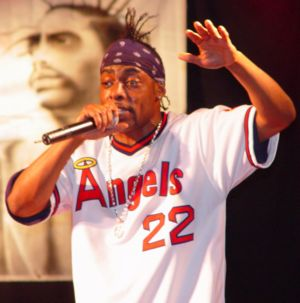 Coolio - Coolio in November 2002, performing for U.S. Army soldiers in Bosnia.