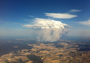 2013 Tasmanian bushfires - Fires at Forcett/Copping on 4 January