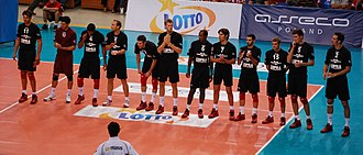 Volley Piacenza - Piacenza team in October 2010.