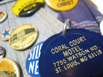 Coral Court Motel - Coral Court key tag