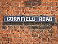 Cornfield Road sign - geograph.org.uk - 1099284.jpg