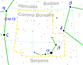star in the constellation Corona Borealis