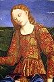 Cosmè tura e angelo maccagnino, musa tersicore, 1460 ca., da studiolo di belfiore, 02.JPG