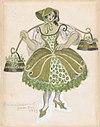 Costume Design for the Shepherdess, for the Ballet 'Les Tentations de la Bergère, premiered at the Théâtre de Monte Carlo, 1924 MET DP858623