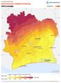 Cote-d-Ivoire PVOUT Photovoltaic-power-potential-map GlobalSolarAtlas World-Bank-Esmap-Solargis.png
