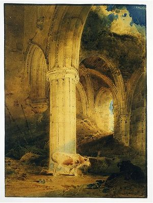 John Sell Cotman - Ruins of Rievaulx Abbey, Yorkshire (1803)