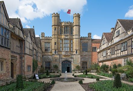 Coughton Court - the courtyard