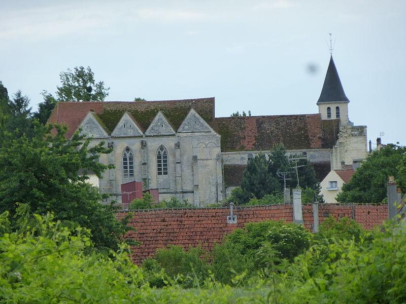Église Saint-Martin à Coulombs-en-Valois. (département de la Seine-et-Marne, région Île-de-France).