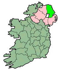 center Map highlighting 安特里姆郡County Antrim