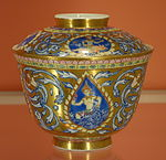 Covered bowl for Indian market, Jingdezhen, China, c. 1850 - Winterthur Museum - DSC01562.JPG
