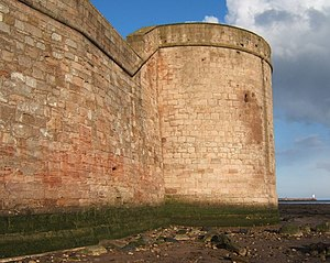 Berwick town walls - Image: Coxon's Tower at low tide geograph.org.uk 1209763