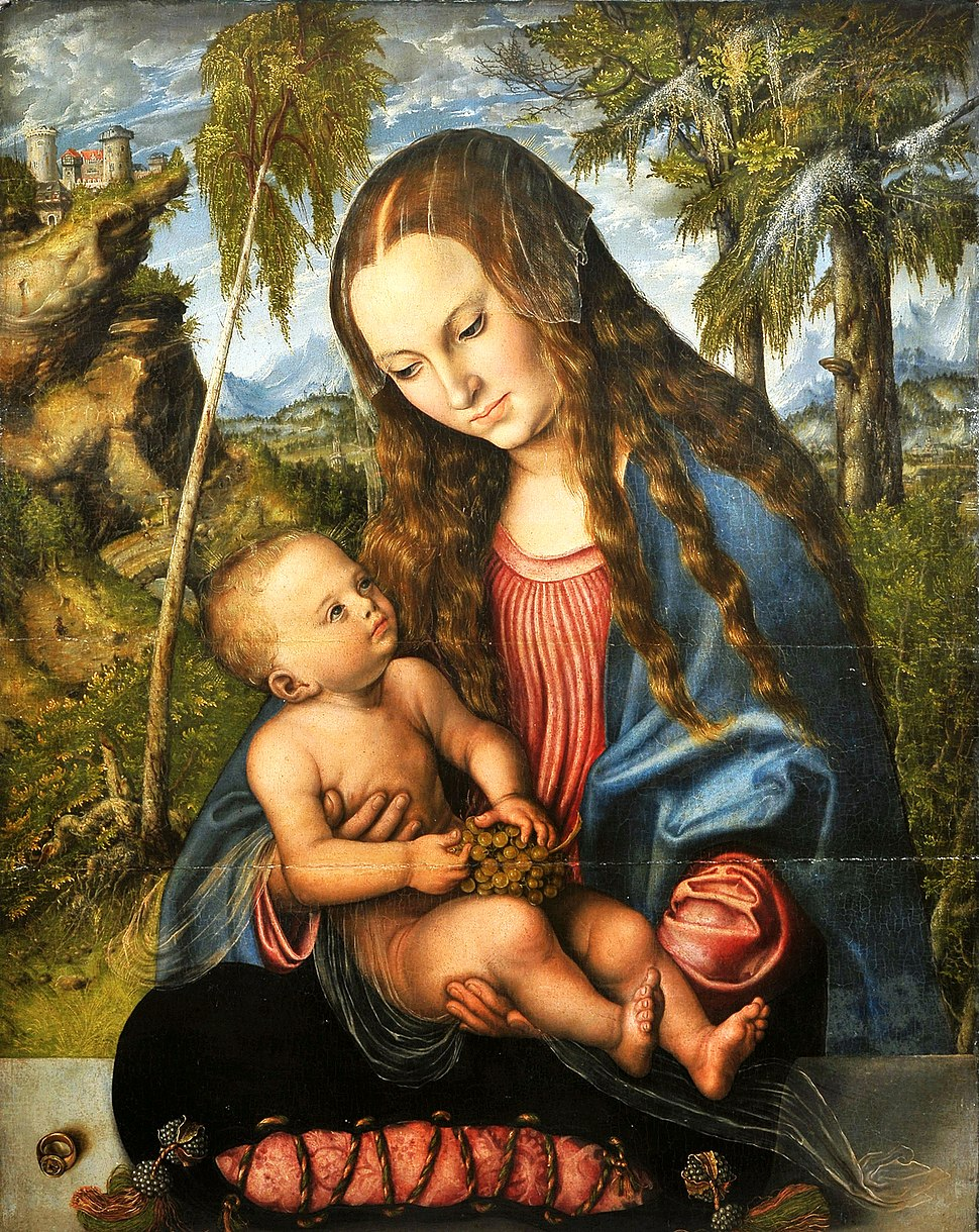 Cranach Madonna under the fir tree