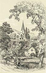 Crickhowel Church from the Bibyll Meadow