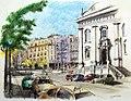 Croquis- Lisbonne - place Luis de Camões - Portugal (8070483642).jpg