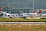 "Crossair Embraer ERJ-145LU (EMB-145LU) HB-JAL ""400th Embraer"" sticker (21991048716).jpg"