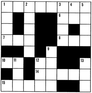 Line art drawing of a crossword puzzle.