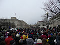 Crowd approaches Department of Agriculture 2 Inauguration 2013.jpg