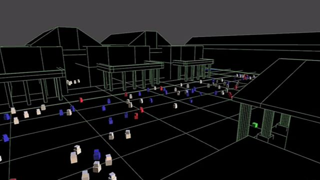 Crowd simulation, Covent Garden, From WikimediaPhotos