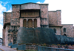 Sun temple - Qurikancha with Convent of Santo Domingo above