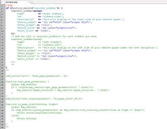 PHP - This is an example of custom PHP code for the WordPress content management system.