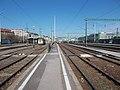 Déli pályaudvar, a 12-es vágány melletti peron vége felől nézve, 2019 Krisztinaváros.jpg