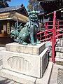 Dômyô-ji-tenman-gû Shrine - Statue of Komainu.jpg