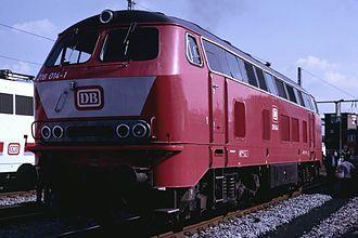 DB Class V 160 - Image: DB 216 014 1 1